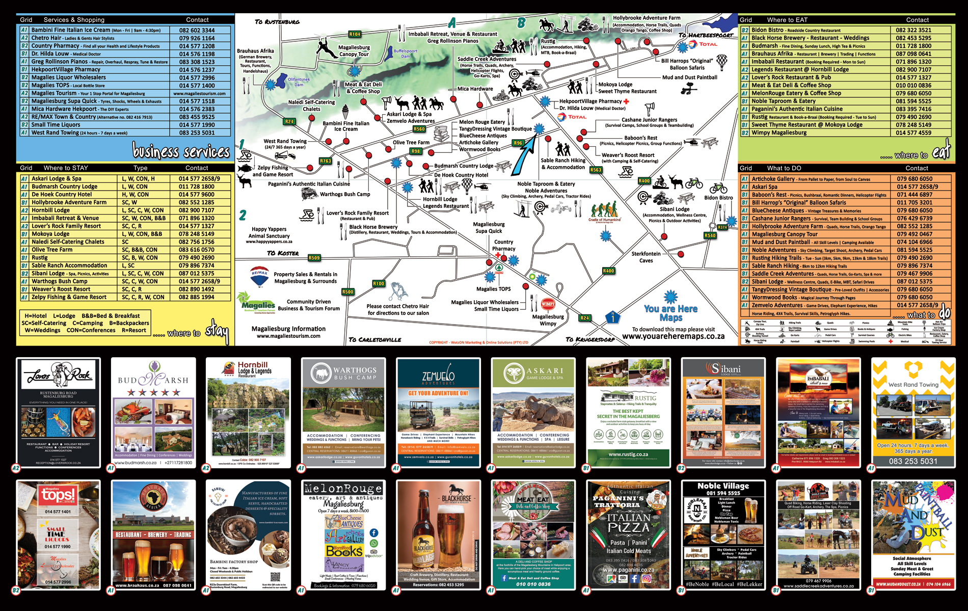 You Are Here Map-Magaliesburg